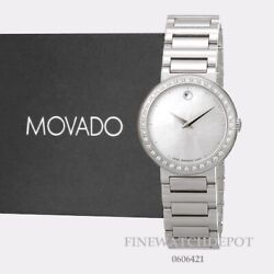Authentic Movado Womenand039s Concerto Diamond Mother Of Pearl Dial Watch 0606421