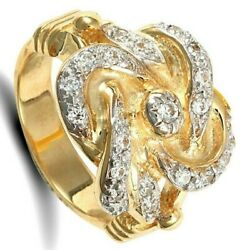 Gents Heavyweight Knot Ring Solid 9 Carat Yellow Gold Hallmarked British Made