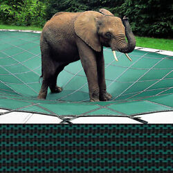 22x44 Loop-loc Green Mesh Rectangle Pool Safety Cover - Llm1046