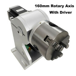 160mm Rotary Axis Three Jaw Rotary Chuck Laser Engraver Accessories With Driver
