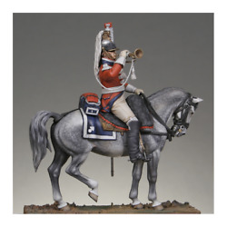 Trumpet Of The 1st Cuirassiers Regiment Painted Tin Toy Soldier Pre Sale   Art