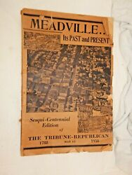 Meadville Pa Its Past And Present 1788-1938 The Tribune Republican