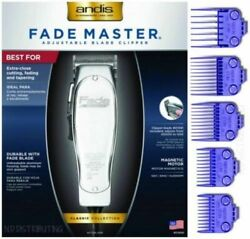 Andis Professional Fade Master Hair Clipper With Adjustable Fade Blade W 5-comb