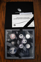 You Will Receive 4 - 2013 United States Mint Limited Edition Silver Proof Sets.