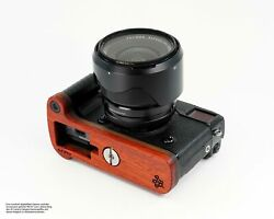 Camera Grip For Fuji X-pro2 Made Of Wood | Jb Camera Designs Usa | Red Brown