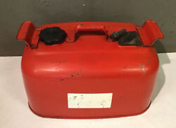 Evinrude Johnson Omc Outboard 6 Gallon Remote Red Metal Gas Tank Fuel Can Vtg
