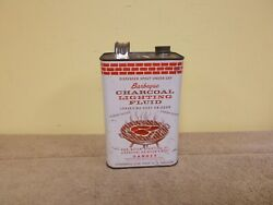 Vgt Barbeque Charcoal Lighting Fluid Can 1/2 Gal. Grill Penn Oil Co. Graphics