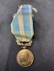 French Bronze Colonial Medal Wwii Indochina Rare Theatre Made Model