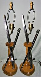 Unique Sword Bayonet And Scabbard Lamps - Solingen 1800's Trench Art