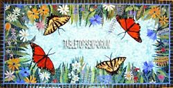 30x48 Marble Top Inlay Dining Table Butterfly Mosaic Decorative Christmas Gift