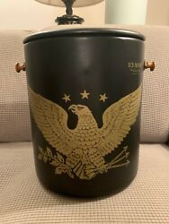 Vintage Hamilton Skotch Ice Eagle Cooler Bucket With Lid Made In Usa