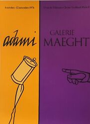 Pop Art Exhibition Poster And039adamiand039 1976 Galerie Maeght Original Vintage Poster