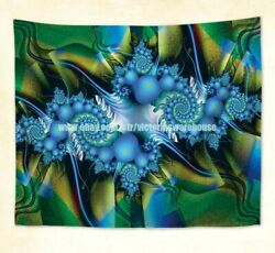 psychedelic trippy wall hanging tapestry window curtain maker