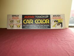 Vintage Plasti-kote Paint Sign Cardboard Auto Body Touch Up Brush Spray Car Colo