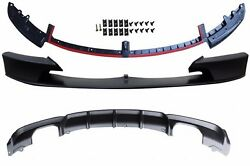 M-tech,m Sport Bumper Front And Rear Lip Spoiler--00--00-- For Bmw F30 3-series