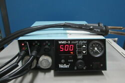 Weller Wmd-3 Multi-digital Rework Station, With Hap1 Hot Air Pencil X 2