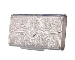 A Russian Silver Cheroot Case Makerand039s Mark Ir By Andrey Kovalsky Moscow 1855