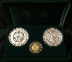 Sydney 2000 Olympic Gold And Silver 3 Proof Coin Set 4 Preparation I
