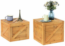 New Vintiquewise Square Decorative Wooden Chest Trunk