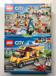 Lego City 60153 People Pack Fun At The Beach And 60150 Pizza Shop Truck New