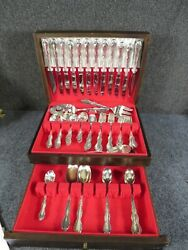 William Rogers Silver Plate Flatware Set Melody Pattern