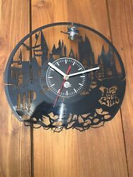 Harry Potter Hogwarts Vinyl Record Wall Clock Best Gifts Home Room Decor