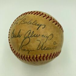 Mickey Mantle And Roger Maris Signed Vintage National League Baseball With Jsa Coa