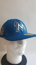 🔥official Miami Marlins Mlb New Era All Star 2017 Fitted 7 1/2 Mens Hat New⚾️