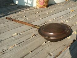 Vintage Bed Warming Pan Ember Holder Rustic Decor Cabin Primitive Tool Country