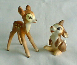 Vintage Disney Goebel Bambi And Thumper Figurines West Germany Excellent Condition