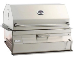 Fire Magic Built-in Stainless Steel Charcoal Grill 24 Inch Analog Thermometer