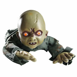 Scary Halloween Prop Animated Crawling Baby Zombie Ghost Baby Doll Haunted House