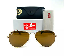 Ray Ban Aviator Brown Classic G 15 Men#x27;s Sunglasses RB3025 001 33 58 14 $69.94