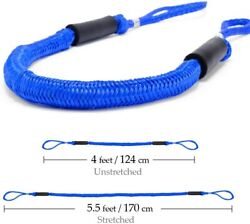 2pcs 4-5.5ft Blue Bungee Dock Line Mooring Rope Cords For Boat Kayak Stretch