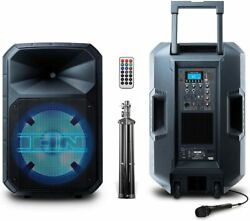 Ion Total Pa Max Bluetooth Pa System With Led Stand And Remote 500-watts