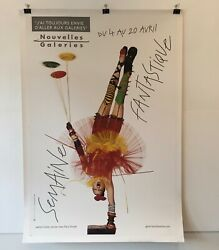 And039nouvelles Galeriesand039and039 By Jean-paul Goude Original Vintage Fashion Poster