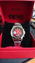 One Piece Anime 20th Anniversary Red 5000 Limited Chrono Watch Wristwatch Rare