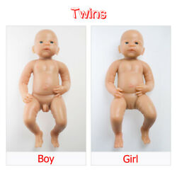 Ivita 2pcs Full Silicone Filled Boy And Girl Newborn Baby Doll Xmas Gift 2110kg