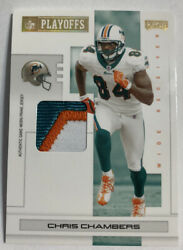 2007 Playoff NFL Playoffs Materials Gold Prime #52 Chris Chambers Jersey 10 $9.00