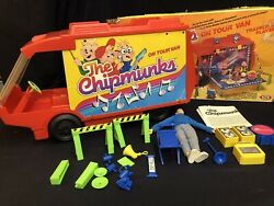 The Chipmunks On Tour Van - Traveling Playset W/box - Ideal Toys