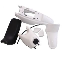 Direct Fit All Year Pw50 Plastic Fairing Fender Seat Gas Tank Kit White