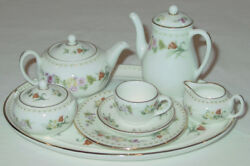 Discontinued Wedgwood Mirabelle 11 Piece Mini / Miniature Tea Set For One Mint