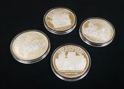 .999 Silver 5 Oz Medallion Collection | Saturday Evening Post | Rockwell 4 Coins