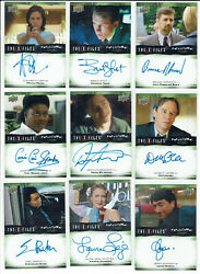 X-files Ufos And Aliens Paranormal Script Autograph Card Selection Upper Deck 2019