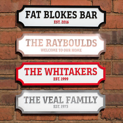 Personalised Street Sign 3d Acrylic Outdoor Thick Custom Road Sign Plaque