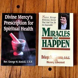 Divine Mercy And Miracles Do Happen Book Lot Catholic