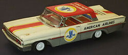 1960's American Airlines Ford Airport Service - Friction Metal Toy Car - Japan