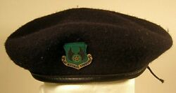 Usaf Us Air Force Material Command Security Police Subdued Crest Badge Beret