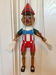 Vintage Wooden Pinocchio Marionette 15 Tall