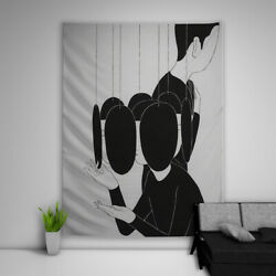 Illustrations Black Tapestry Art Wall Hanging Sofa Table Bed Cover Poster